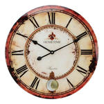 HOMETIME GLASS WALL CLOCK WITH PENDULUM 57CM 'CHAMPS ELYSEE' W570 X H570 X D55