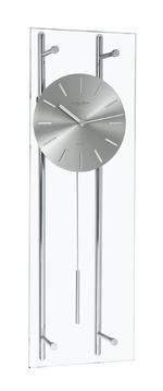 Chrome Glass Pendulum Clock