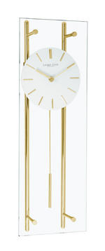 Gold Glass Bar Pendulum Clock