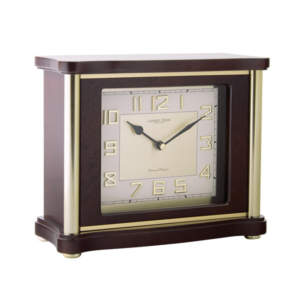 Traditional Flat Top Mantel Clock