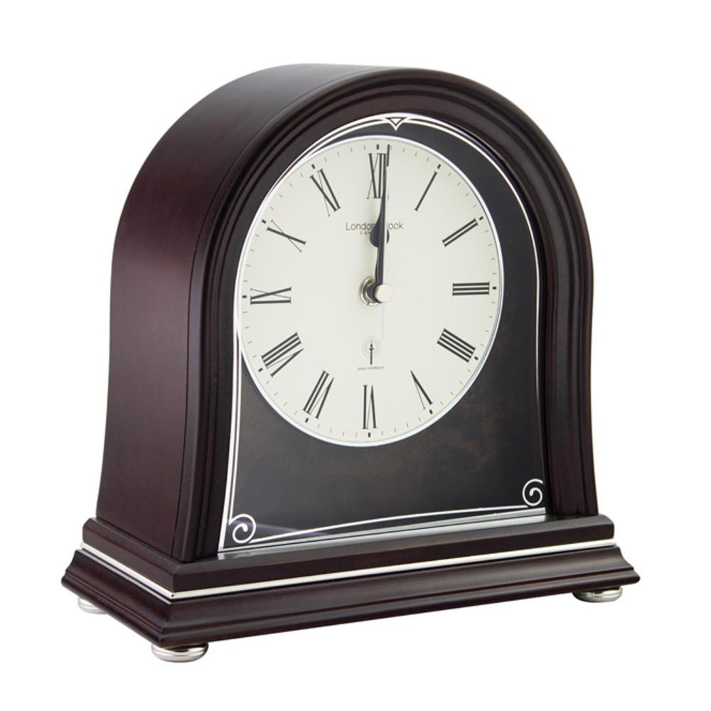 Mahogany Radio Controlled Mantel Clock