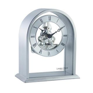 Silver Skeleton Mantel Clock Thumbnail 1