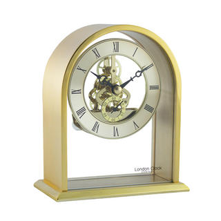 Gold Skeleton Mantel Clock Thumbnail 1