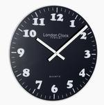Black Contemporary Glass Wall Clock