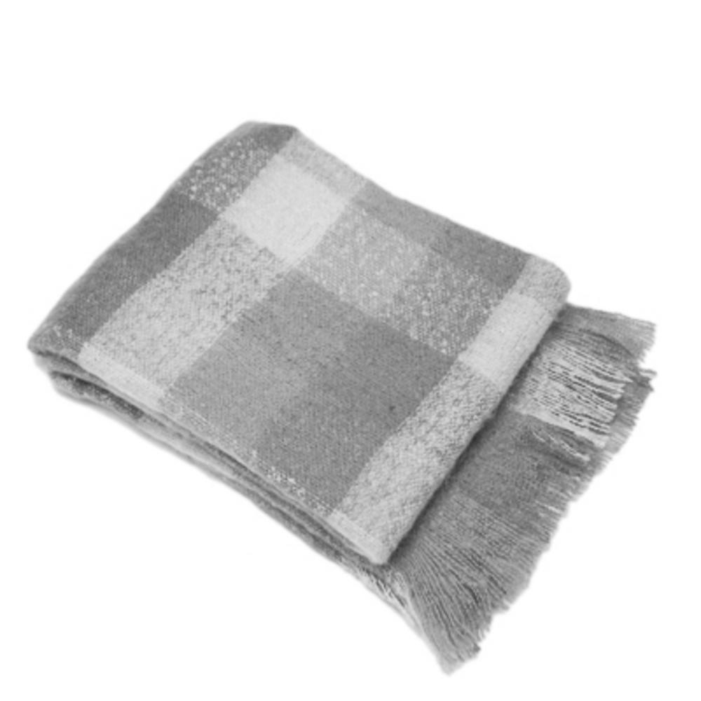 Malini James Throw Taupe & Grey