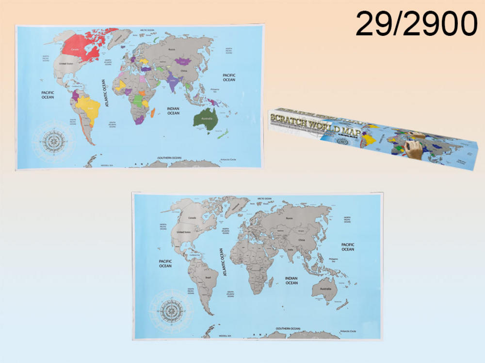 Scratchable Art World Map Scratch Out Areas You'v Visited