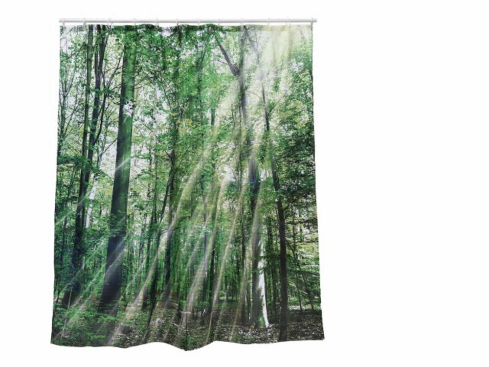 Plastic Shower Curtain Forest 180 X 180 Cm For Hanging