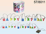 Happy Birthday Fairy Chain String Colored Lights with 15 LED