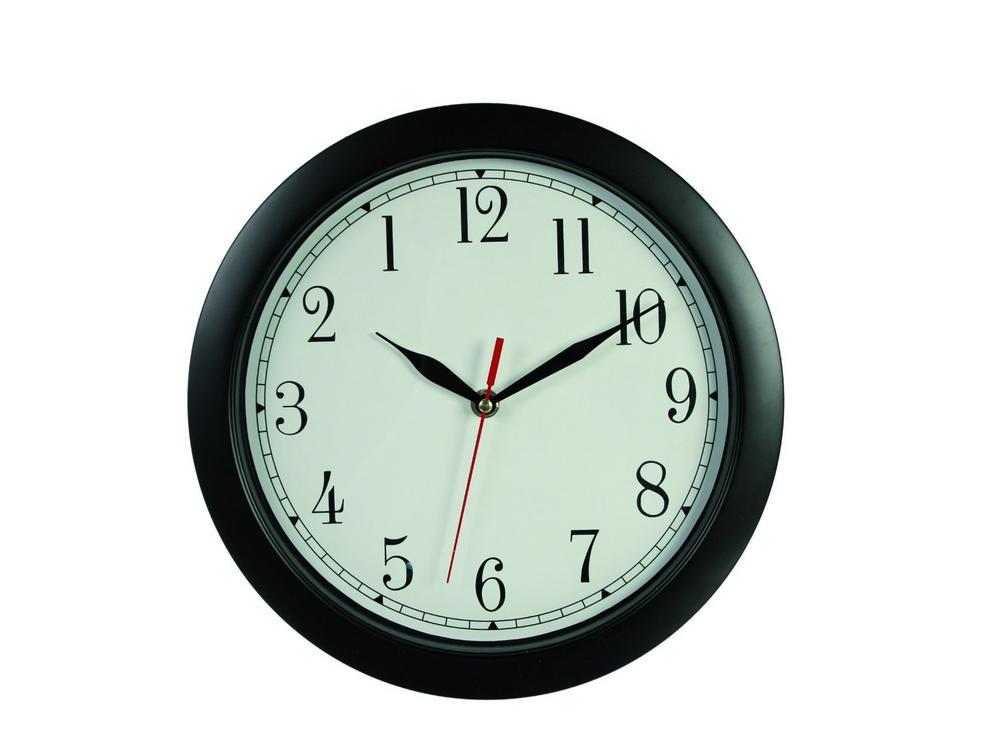 Black Reverse Wall Clock