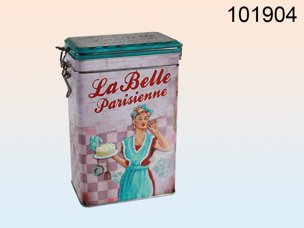 Metal Coffee Storage Tin La Belle Parisienne Design