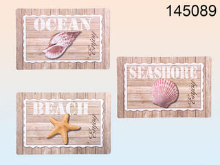 Natural Coloured Polypropylene Placemat Seaside / Maritime 43,5 X 28,5 Cm 3 Assorted Thumbnail 1