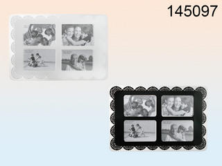 Polypropylene Placemat 45 X 30 Cm For 4 Photos 10 X 15 Cm 2 Colours Assorted Thumbnail 1