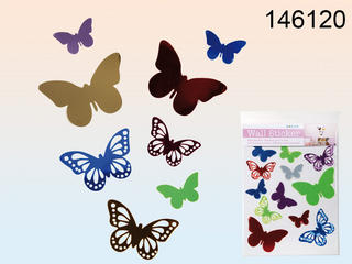 Plastic Wall Sticker 12 Assorted Butterfly Per Bag   Thumbnail 1