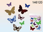 Plastic Wall Sticker 12 Assorted Butterfly Per Bag