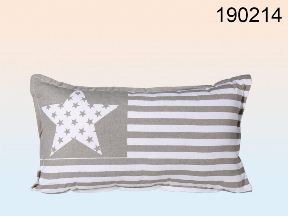 Neck Cushion Star And Stripes Design  50x30 Cm 35 % Cotton & 65% Polyester