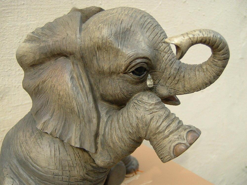 Elephant Teardrop Figurine