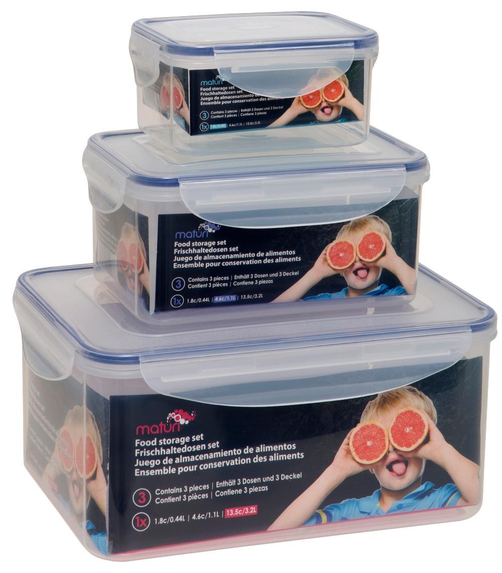 Three Rectangular Storage Tubs