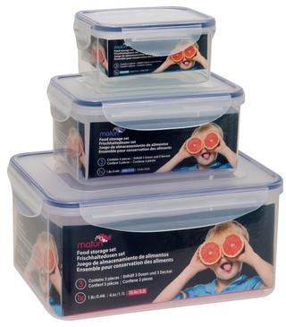 Three Rectangular Storage Tubs Thumbnail 1