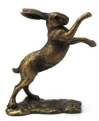 Reflections Bronzed Boxing Hare Thumbnail 1