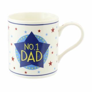 Number 1 Dad Fine China Mug Thumbnail 1