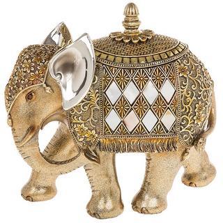 Shudehill Gold And Pearl Elephant Trinket Box Ornament Thumbnail 1