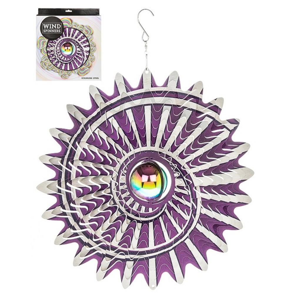 "Hanging Stainless Steel Sun Catcher Orbit Spinner Cyclove 12"""