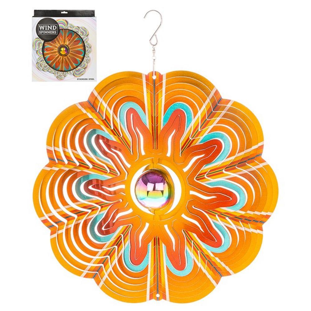 "Hanging Stainless Steel Sun Catcher Orbit Spinner Sunsplash 12"""