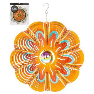 """Hanging Stainless Steel Sun Catcher Orbit Spinner Sunsplash 12"""" Thumbnail 1"""