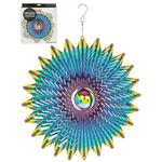 Hanging Stainless Steel Sun Catcher Orbit Spinner Blowout 12""