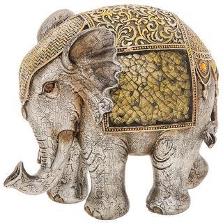Gold Crackle Elephant Extra Large Thumbnail 1