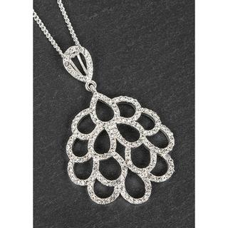 Silver Plated Frilly Round Necklace Thumbnail 1