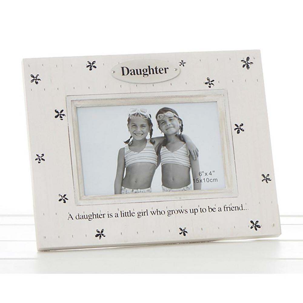 Flower Print Frame Daughter Is A Little Girl Who Grows Up To Be A Friend