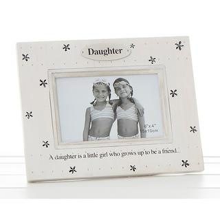 Flower Print Frame Daughter Is A Little Girl Who Grows Up To Be A Friend Thumbnail 1