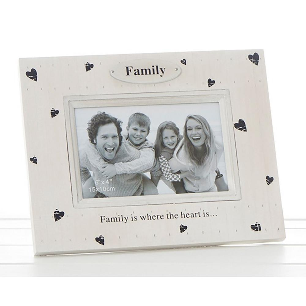 Heart Prints Frame Family Is Where The Heart Is