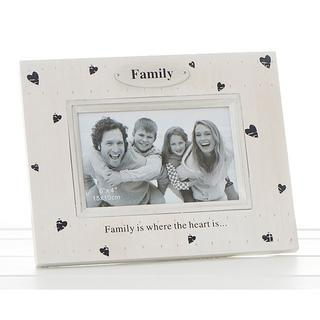 Heart Prints Frame Family Is Where The Heart Is Thumbnail 1