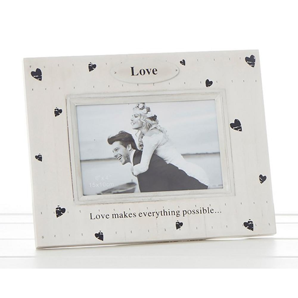 Heart Prints Frame Love Makes Everything Possible