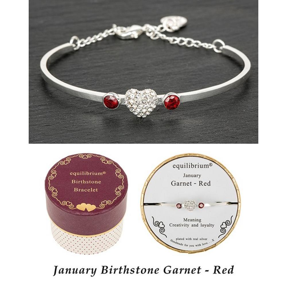 Birthstone Bracelet January Garnet / Red