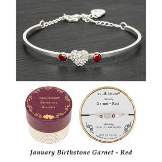 Birthstone Bracelet January Garnet / Red Thumbnail 1