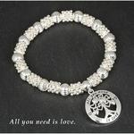 Silver Plated Tree Life Bracelet Love Is All You Need