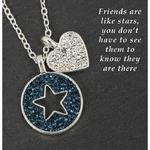 Silver Plated Midnight Sparkle Necklace Friend