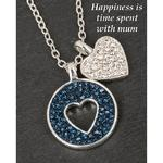 Silver Plated Midnight Sparkle Necklace Mum