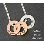 3 Tone Rings Necklace Dreams
