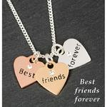 3 Tone Hearts Necklace Friends