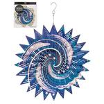 Hanging Stainless Steel Sun Catcher Wind Spinner Galaxy 12""