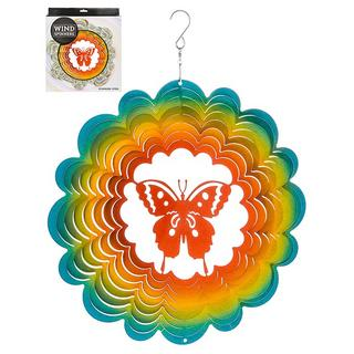 "Hanging Stainless Steel Sun Catcher Wind Spinner Butterfly 12"" Thumbnail 1"