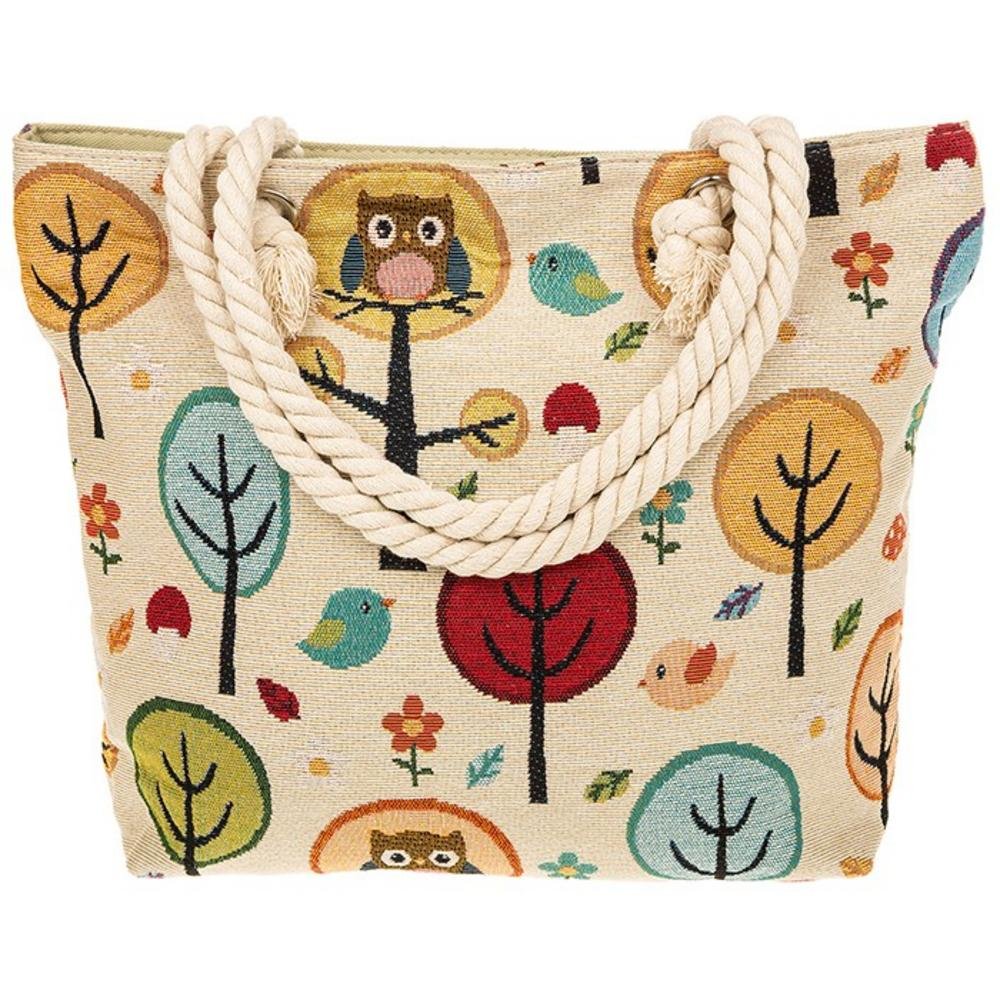 Equilibrium Jewellery Tapestry Owl Tree Design Tote Bag