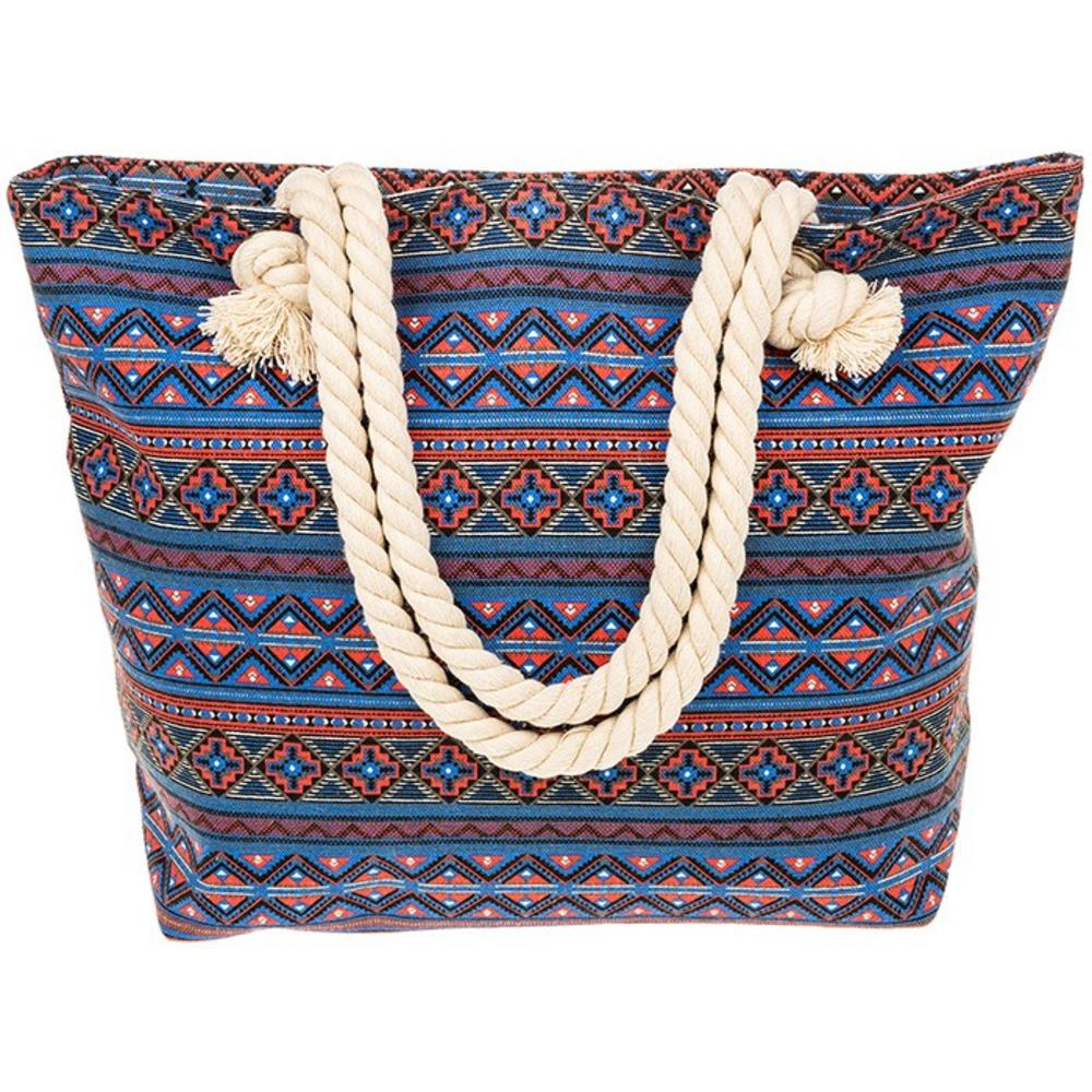 Equilibrium Jewellery Pink Red Aztec Tote Bag