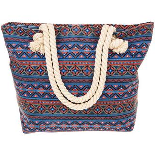Equilibrium Jewellery Pink Red Aztec Tote Bag Thumbnail 1