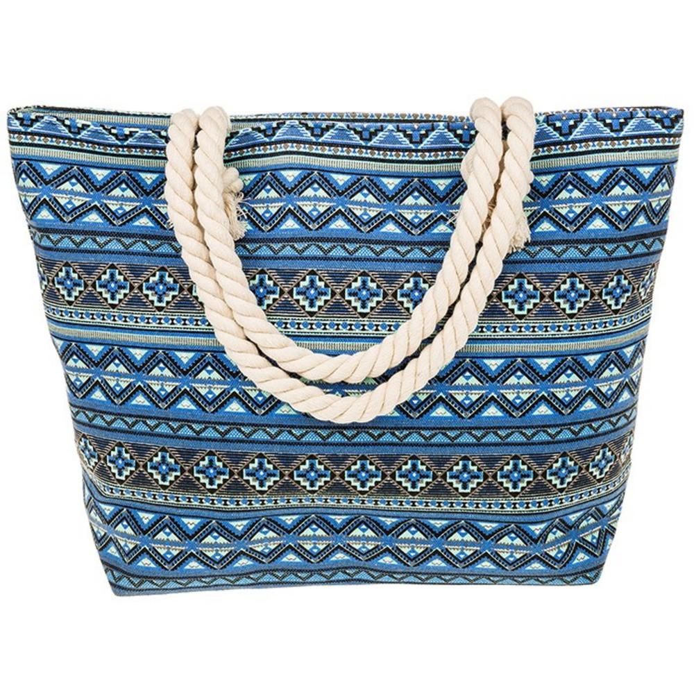 Equilibrium Jewellery Blue Aztec Tote Bag