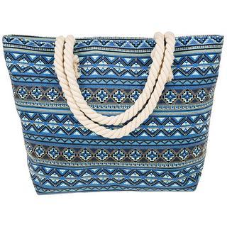 Equilibrium Jewellery Blue Aztec Tote Bag Thumbnail 1